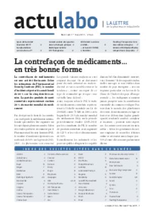 La Lettre actu Labo industrie pharmaceutique